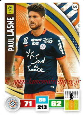 2016-17 - Panini Adrenalyn XL Ligue 1 - N° 222 - Paul LASNE (Montpellier)