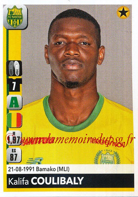 2018-19 - Panini Ligue 1 Stickers - N° 293 - Kalifa COULIBALY (Nantes)