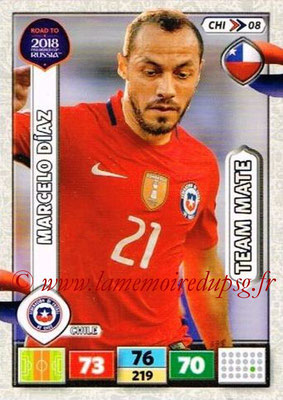 2018 - Panini Road to FIFA World Cup Russia Adrenalyn XL - N° CHI08 - Marcelo DIAZ (Chili)