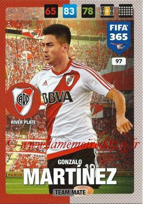 2016-17 - Panini Adrenalyn XL FIFA 365 - N° 097 - Gonzalo MARTINEZ (CA River Plate)