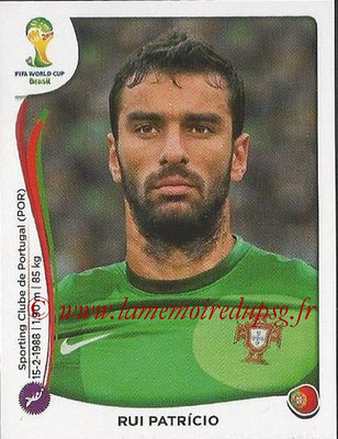 2014 - Panini FIFA World Cup Brazil Stickers - N° 509 - Rui PATRICIO (Portugal)
