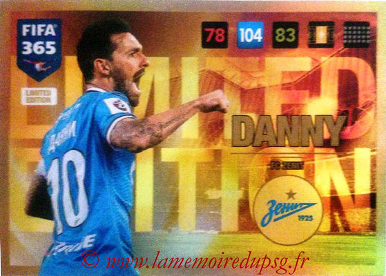 2016-17 - Panini Adrenalyn XL FIFA 365 - N° LE46 - DANNY (FC Zenit) (Limited Edition)
