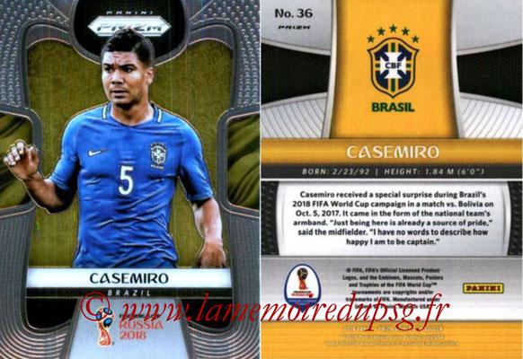 2018 - Panini Prizm FIFA World Cup Russia - N° 036 - CASEMIRO (Bresil)