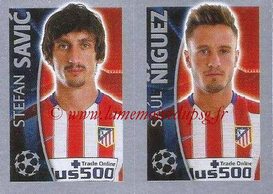 2015-16 - Topps UEFA Champions League Stickers - N° 189 - Stefan SAVIC + Saùl NIGUEZ (Club Atlético de Madrid)