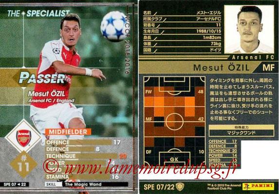 2015-16 - Panini WCCF - N° SPE07 - Mesut ÖZIL (Arsenal FC) (The Specialist)