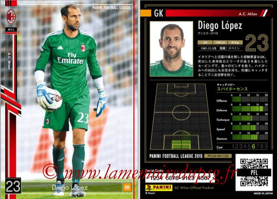 Panini Football League 2015 - PFL09 - N° 001 - Diego LOPEZ (Milan AC)