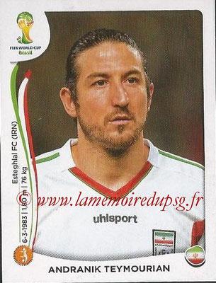 2014 - Panini FIFA World Cup Brazil Stickers - N° 461 - Andranik TEYHOURIAN (Iran)