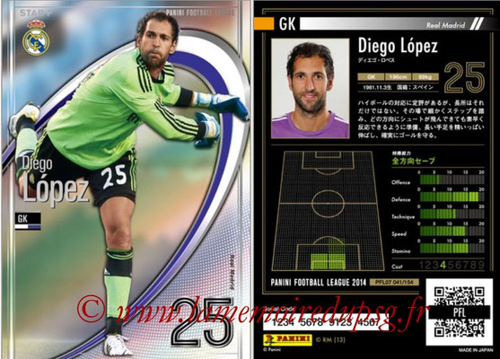 Panini Football League 2014 - PFL07 - N° 041 - Diego LOPEZ (Real Madrid) (Star +)