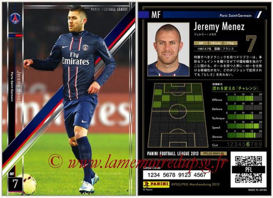 Panini Football League 2013 - PFL03 - N° 069 - Jeremy Menez (Paris Saint-Germain)