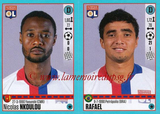 2016-17 - Panini Ligue 1 Stickers - N° 362 + 363 - Nicolas NKOULOU + RAFAEL (Lyon)