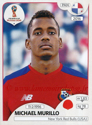 2018 - Panini FIFA World Cup Russia Stickers - N° 536 - Michael MURILLO (Panama)