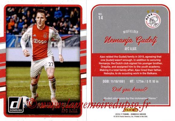 2016 - Panini Donruss Cards - N° 014 - Nemanja GUDELJ (AFC Ajax)