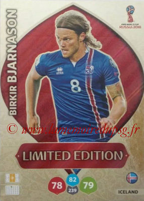 2018 - Panini FIFA World Cup Russia Adrenalyn XL - N° LE-BB - Birkir BJARNASON (Islande) (Limited Edition)