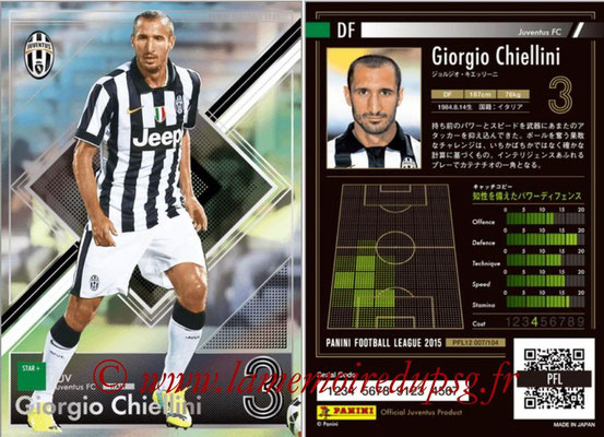 Panini Football League 2015 - PFL12 - N° 007 - Giorgio CHIELLINI (Juventus FC) (Star +)