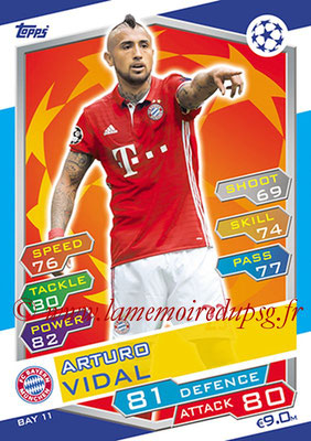 2016-17 - Topps UEFA Champions League Match Attax - N° BAY11 - Arturo VIDAL (FC Bayern Munich)