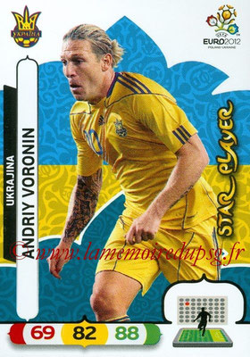 Panini Euro 2012 Cards Adrenalyn XL - N° 223 - Andriy VORONIN (Ukraine) (Star Player)