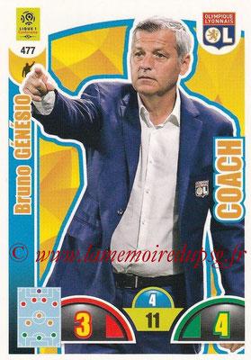 2018-19 - Panini Adrenalyn XL Ligue 1 - N° 477 - Bruno GENESIO (Lyon) (Coach)