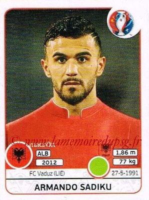Panini Euro 2016 Stickers - N° 086 - Armando SADIKU (Albanie)
