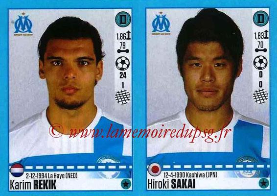 2016-17 - Panini Ligue 1 Stickers - N° 406 + 407 - Karim REKIK + Hiroki SAKAI (Marseille)