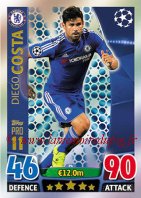 2015-16 - Topps UEFA Champions League Match Attax - N° P04 - Diego COSTA (Chelsea FC) (Pro 11)