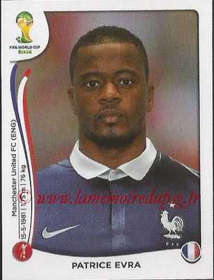 2014 - Panini FIFA World Cup Brazil Stickers - N° 377 - Patrice EVRA (France)