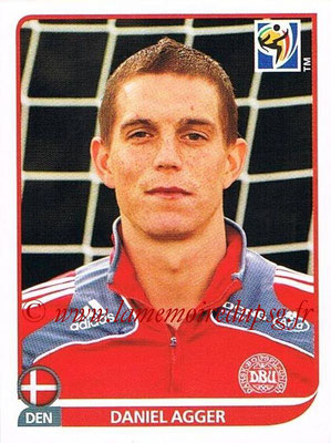 2010 - Panini FIFA World Cup South Africa Stickers - N° 356 - Daniel AGGER (Danemark)