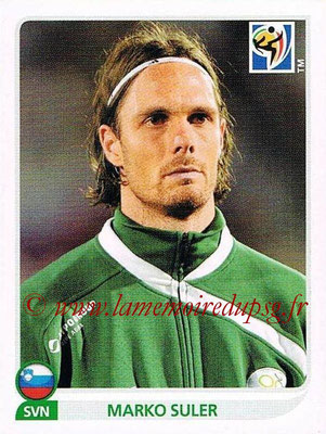 2010 - Panini FIFA World Cup South Africa Stickers - N° 244 - Marko SULER (Slovenie)