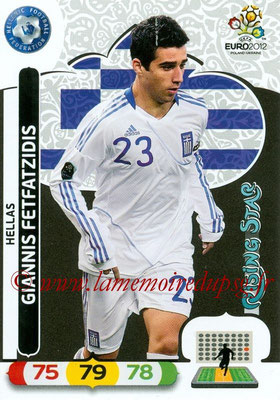 Panini Euro 2012 Cards Adrenalyn XL - N° 097 - Giannis FETFATZIDIS (Grèce) (Rising Star)