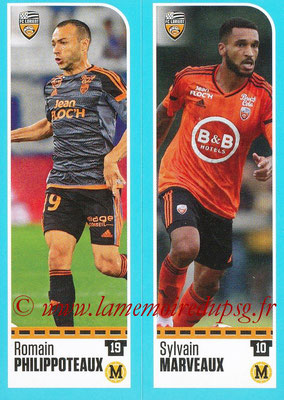 2016-17 - Panini Ligue 1 Stickers - N° 310 + 311 - Romain PHILIPPOTEAUX + Sylvain MARVEAUX (Lorient)