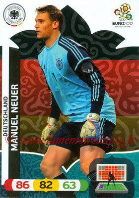 Panini Euro 2012 Cards Adrenalyn XL - N° 025 - Manuel NEUER (Allemagne)