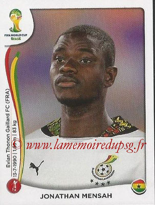 2014 - Panini FIFA World Cup Brazil Stickers - N° 530 - Jonathan MENSAH (Ghana)