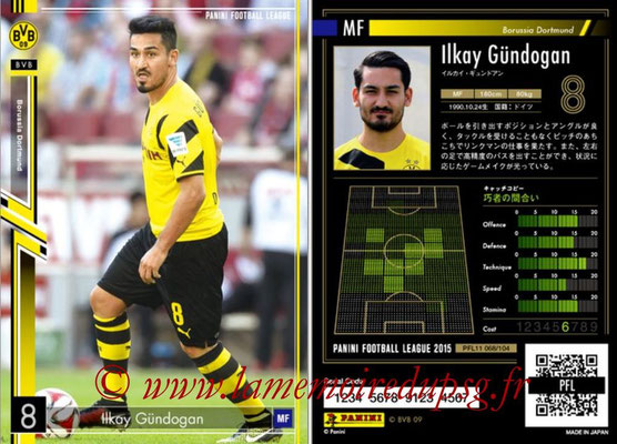 Panini Football League 2015 - PFL11 - N° 068 - Ilkay GÜNDOGAN (Borussia Dortmund)