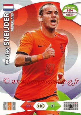 2014 - Panini Road to FIFA World Cup Brazil Adrenalyn XL - N° 135 - Wesley SNEIJDER (Pays-Bas)