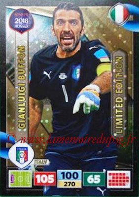 2018 - Panini Road to FIFA World Cup Russia Adrenalyn XL - N° LE-GBU - Gianluigi BUFFON (Italie) (Limited Edition)