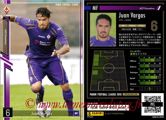 Panini Football League 2015 - PFL09 - N° 031 - Juan VARGAS (Fiorentina)