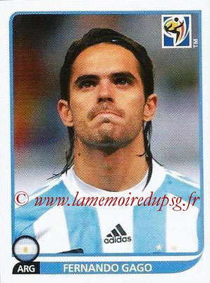2010 - Panini FIFA World Cup South Africa Stickers - N° 115 - Fernando GAGO (Argentine)