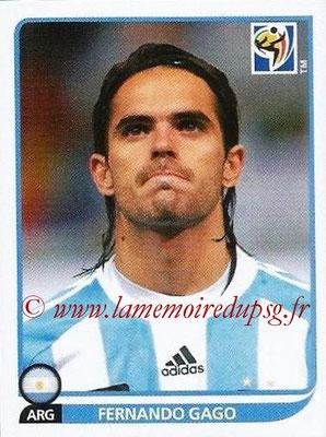 2010 - Panini FIFA World Cup South Africa Stickers - N° 115 - Fernando GAGO (Argentine)
