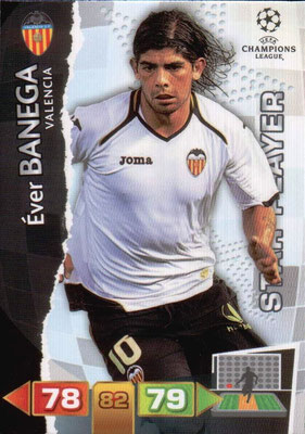 2011-12 - Panini Champions League Cards - N° 253 - Ever BANEGA (FC Valence) (Star Player)