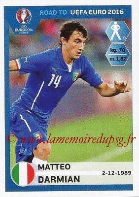 Panini Road to Euro 2016 Stickers - N° 165 - Matteo DARMIAN (Italie)