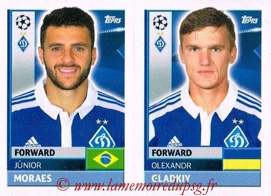 2016-17 - Tops UEFA Champions League Stickers - N° DYN 18-19 - Olexandr GLADKIY + Junior MORALES (FC Dynamo Kiev)