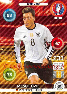 Panini Euro 2016 Cards - N° 073 - Mesut ÖZIL (Allemagne)