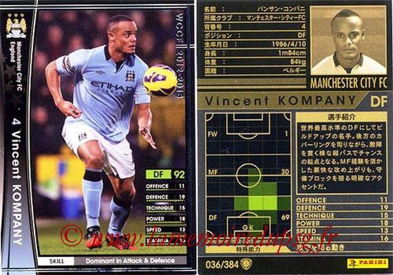 2012-13 - WCCF - N° 036 - Vincent KOMPANY (Manchester City FC)