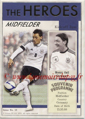 2013 - Futera World Football Unique - N° HER18 - MESUT OZIL (Allemagne) (Midfielder) (The Heroes)