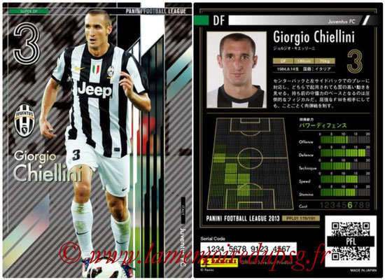 Panini Football League 2013 - PFL01 - N° 178 - Giorgio Chiellini ( Juventus FC ) (Super DF)