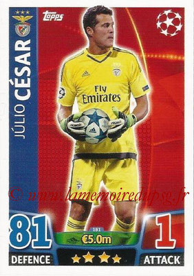 2015-16 - Topps UEFA Champions League Match Attax - N° 181 - Julio CESAR (SL Benfica)