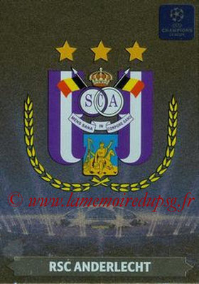 2013-14 - Adrenalyn XL champions League N° 003 - RSC Anderlecht