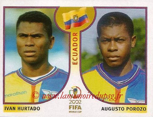 2002 - Panini FIFA World Cup Stickers - N° 513 - Ivan HURTADO + Augusto POROZO (Equateur)