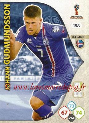 2018 - Panini FIFA World Cup Russia Adrenalyn XL - N° 188 - Johan GUDMUNDSSON (Islande)