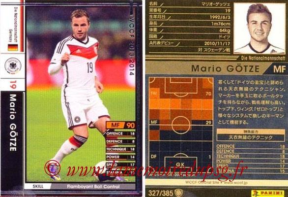2013-14 - WCCF - N° 327 - Mario GOTZE (Allemagne)