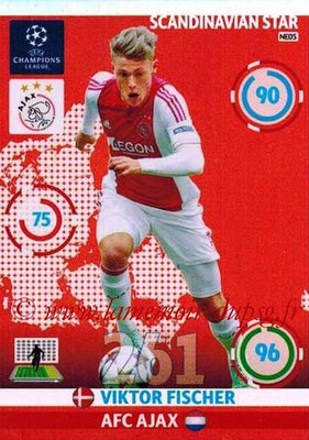 2014-15 - Adrenalyn XL champions League N° NE05 - Viktor FISCHER (AFC Ajax) (Scandinavian Star)